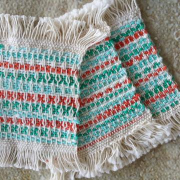 Mug rugs, set #10
