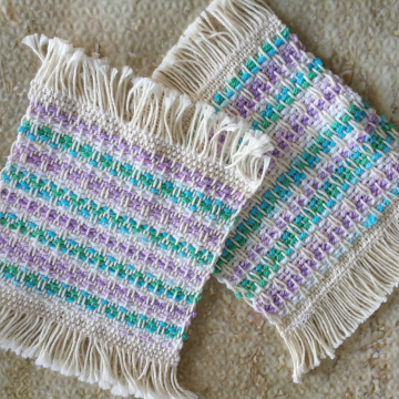 Mug rugs, set #13
