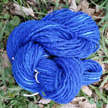 """River Blue"" hand-dyed wool yarn"