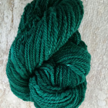 """Amazon Green"" hand-dyed wool yarn"