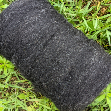 Shetland - natural black roving