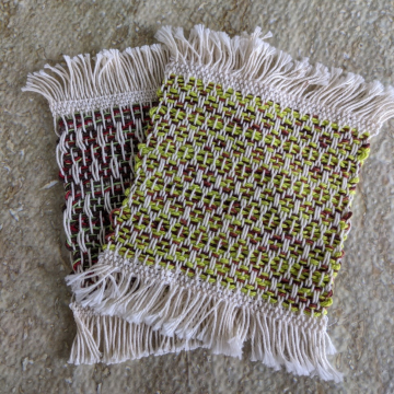 Mug rugs, set #5