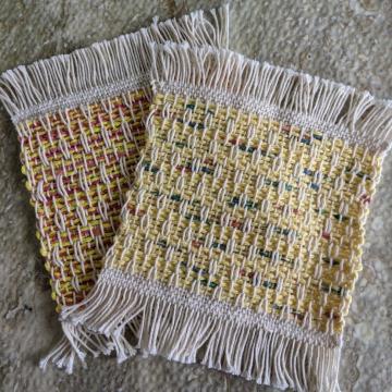 Mug rugs, set #3